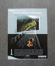 [GCG] K176- Advertising Pubblicità -2003- THOMSON PLASMA HI PIX