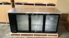 "New 72"" Commercial Black Triple Door Back Bar Cooler Refrigerator Beer Dispenser"
