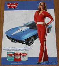"""2013 Lingenfelter """"2nd issued"""" Chevy Corvette LZ067 Grid Girl SEMA info card"""
