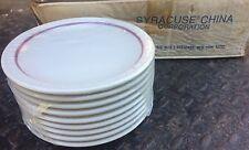 Set of 9 Syracuse China Restaurant Econo-Rim Cardinal Line Red Band 6 3/8 Plates