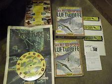 "Secret Weapons of the Luftwaffe ibm Games 5"" Disks Lucasfilm Games 1990 Pinwheel"