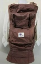 Ergo Baby Organic Carrier Brown Front and Back Carrier Travel Baby Wearing
