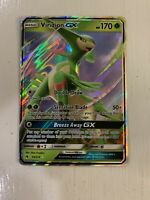 Pokemon TCG SM Lost Thunder 34/214 Virizion GX Holofoil Rare Card NM