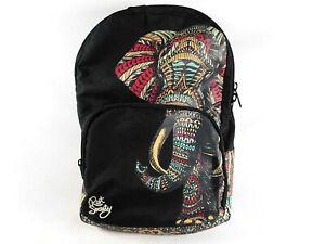 Riot Society Ornate Elephant School Women's Backpack Black RARE