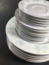 Lot of 20 Prestige GARDEN CHINA Dinner  Bread & Butter Plates Saucers Floral