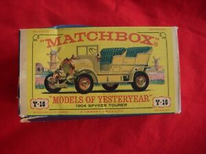 Matchbox Models of Yesteryear Y 16 1904 Spyker Tourer with Original Box MINT car