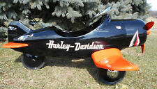 "Custom Harley Davidson F4U Corsair Pedal Car Airplane 43"" Wing Span 50"" Long"