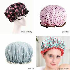 Women Bathroom Waterproof Bath Hat Double Layer Shower Hair Cover Shower Caps