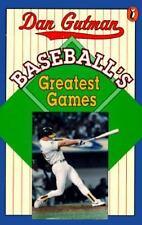 Baseball's Greatest Games Gutman, Dan Paperback