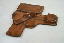 Vintage WWII Military Genuine Leather German Pistol Gun Police Holster for Belt