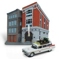 Ghostbusters Diecast Modell 1/64 1959 Cadillac Ecto-1 & Firehouse Diorama Set