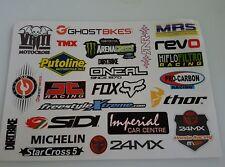 A4 Sheet - 23 x Motorbike Stickers Decals Tank Belly Pan Tool Box Biker