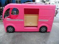 Barbie Doll Pink Pop-Up RV Camper w/ Accessories 2014  805123