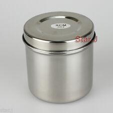 1pc Stainless Steel Cotton Ball Gauze Tampon Jar Holder Dispenser Dental Medical