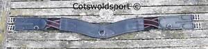 "CS Curved Contoured Ergonomic Forward Leather Girth   Length 52""  132cm  Black"