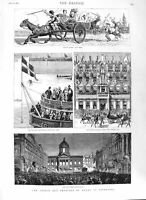 Old Antique Print 1881 Prince Wales Liverpool Ship Alexandra Dock Reform 19th