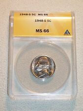1948-S JEFFERSON NICKEL ANACS GRADED MS66  ( ONLY 1 Grade Higher ) VERY NICE !