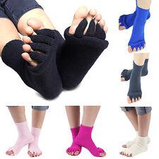 EG_ New Stylish 1 Pair Yoga GYM Massage Five Toe Separator Socks Foot Pain Relie