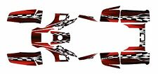 Yamaha Warrior 350 Graphics Decal kit Free Customization #2500-Red