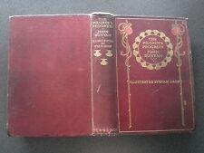 ANTIQUE BOOK THE PILGRIMS PROGRESS JOHN BUNYAN