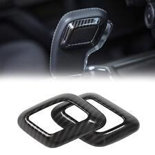 Carbon Fiber Grain Gear Shift Knob Head Grip Cover Trim For Ford F150 2015-2017
