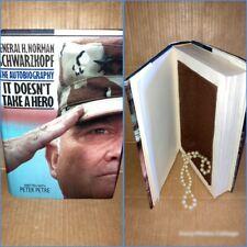 Hollow Stash Book - Hidden Secret Safe Box - Norman Schwarzkopf Take A Hero