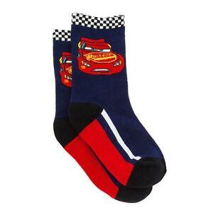 Disney Store Cars Lightning McQueen Socks Kids Boys Size L  NWT