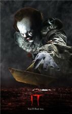IT 2017 Movie Poster Stephen King Pennywise Art Fabric Poster 20x13'' inches008