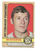 1972-73 O-Pee-Chee #15 Jim Rutherford RC Rookie Pittsburgh Penguins *