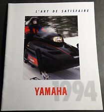 1994 FRENCH YAMAHA SNOWMOBILE SALES BROCHURE LARGE 36 PAGES NICE     (801)