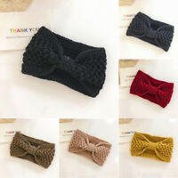 Hairband Ladies Headwrap Headband Warmer Bowknot Knitted Women Crochet Winter