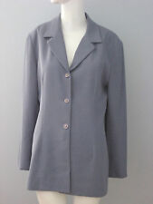 ST. MICHAEL from MARKS & SPENCER Size 12 (42) Blue Blazer (Made in Canada)