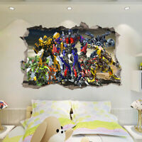 Cartoon Transformer bumblebee Wall Sticker Decal for Kids Nursery Bedroom Party