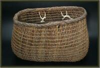 VG90 Japanese old rattan woven with vine and akebi vine basket #wicker basket