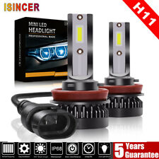 2X 110W H11 Car LED Mini Headlight Bulbs COB FOG Driving Lamps DRL 6000K White