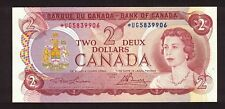 CANADA 1974 $2 LAWSON BOUEY REPLACEMENT NOTE SERIAL *UG5839906 AU CURRENCY