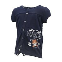 MLB Infants New York Yankees Peanuts Love Baseball Creeper Grey