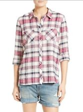 Soft Joie Women's Lilya Plaid Button Down Shirt Size L EUC
