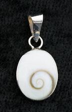 Pendentif Ovale Oeil de Shiva ou de Sainte Lucie-bijoux En Argent  925 W27-10053