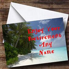 Beach Personalised Retirement Greetings Card