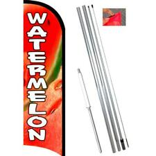 WATERMELON Premium Windless-Style Feather Flag Bundle 14' OR Replacement Flag On