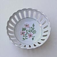 Andrea by Sadek Porcelain Trinket bowl Williamsburg Meadow Flower Wild Rose. new