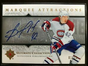 2005/06 UD ULTIMATE ATTRACTIONS ROOKIE ALEXANDER PEREZHOGIN AUTO 1/10