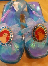 New Disney Store Ariel Shoes Sandals Costume Dress up Halloween Girls Glitte 2/3