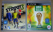 PS3 Game Lot - EA Sports FIFA  Street 3 (Used) 2014 FIFA World Cup Brazil (New)