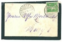 Switzerland   1910 Mourning cover & inset card postmarked  GENEVE 6