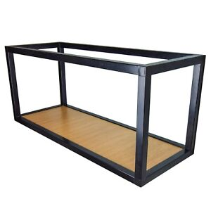 Practical And Modern Floating Cube-Shaped Wall Shelf. Metal frame. 79cm Length.