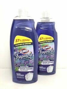 Clorox Fraganzia Dish Soap Lavender With Eucalyptus Scent 22 Fl Oz. Set Of 2 New