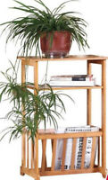 Bamboo Shelf Living Room Trolly Display Shelf Magazine rack plant stand Storage