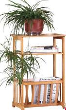 Bamboo Shelf Living Room Trolly Display Shelf Magazine rack plant stand Storage
